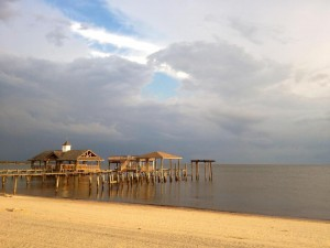 One of my favorite scenes from 2012: Mobile Bay at sunset.
