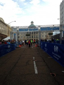 Coming up on the Finish Line. 13.1 miles in the can.