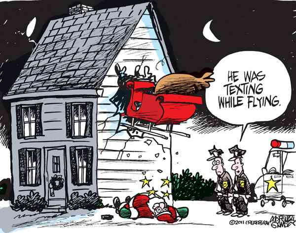 Marshall Ramsey created this Holiday Themed Cartoon